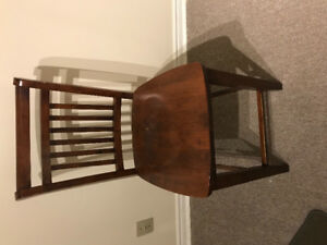 2 high wooden chairs and wooden stool ideal for kitchen or Bar