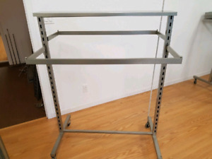 Clothing Rack 2 Sided Adjustable Hang Bars EUC Store Fixtures