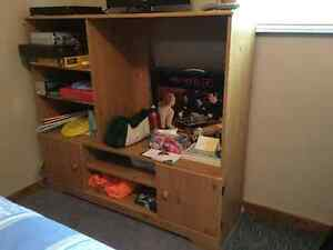Wood / Sturdy TV Entertainment Unit or use as Display Cabinet