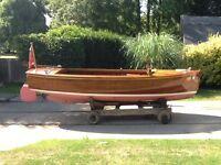 LITTLE AUK, Beautiful Mahogany day boat.