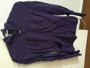 Purple mint condition lululemon reversible sweater jacket