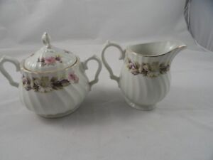 Cream and Sugar Vintage Camelot by Myott of England