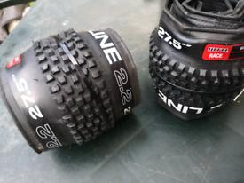 Brand new wtb 27.5 x 2.2 tubeless ready MTB bike tyres