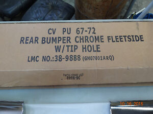 1967-72 Chevy Truck Chrome Rear Bumper w cut outs for exhaust Strathcona County Edmonton Area image 2