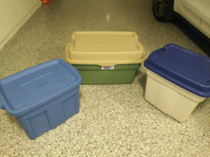 Rubbermaid RoughTote Storage Boxes, 3 different sizes and prices
