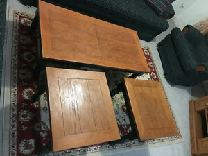 Coffee table + 2 end tables Kitchener / Waterloo Kitchener Area image 2