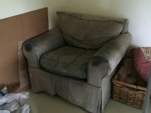 Green leather chair Peterborough Peterborough Area image 1