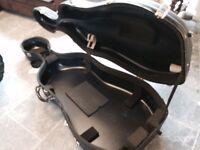Full size hard case for cello