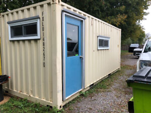 Converted sea container office