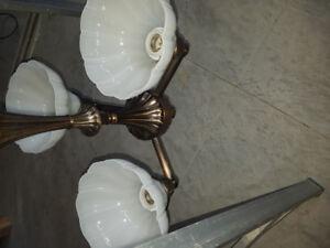 Bronze chandelier with 3 lights