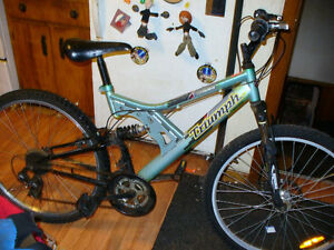 triumph 21 speed mountain bike.mans 26 inch rum