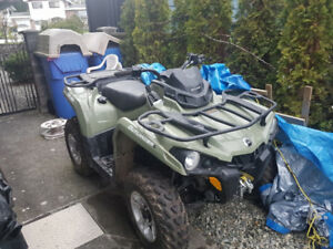 2016 CanAm Outlander with Trailor and add-ons. Like NEW!!