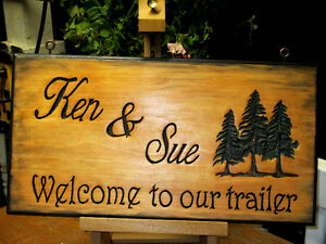 Custom hand carved personalized wood sign Peterborough Peterborough Area image 6