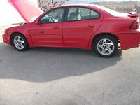 2002 Pontiac Grand Am GT fully loaded bright red runs great nice