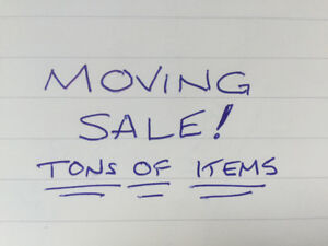 MOVING SALE - EVERYTHING MUST GO!!!!