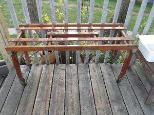 Antique Hardwood Laundry Tub Bench - Beatty Bros Fergus Canada