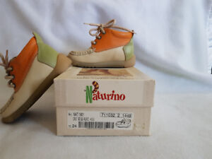 All leather toddler shoes, Naturino, size 8 euro size 24