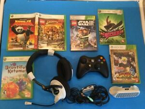 X 360: Amped 3, Katamari, clavier, Casque Ear Force, Naruto...