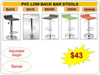 BRAND NEW- BAR STOOLS, STORAGE OTTOMANS, BENCHES- Many colors