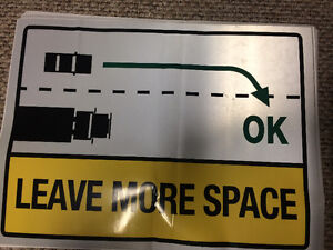 Leave More Space Signs
