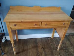 Vintage solid wood writing desk