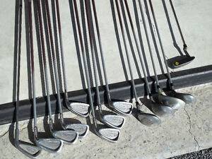 lady's right hand golf clubs with bag