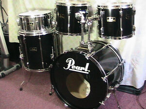"5Pce*PEARL""Export""Pearl's Flagship Pro.Drum kit*TripleBlk*Mint! Windsor Region Ontario image 4"