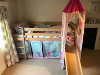 Cabin Bed with slide and tower