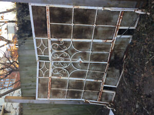 Giant antique fire screen