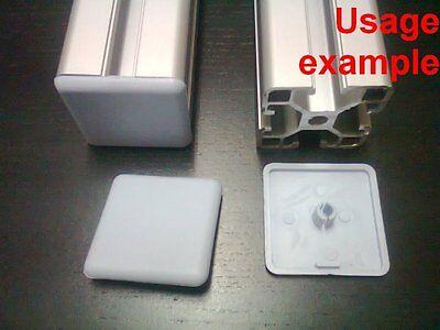 Aluminum T-slot Profile End Cap Plastic White-grey 40x40mm 16-set