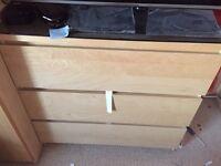 Ikea Beech 3 drawer cabinet