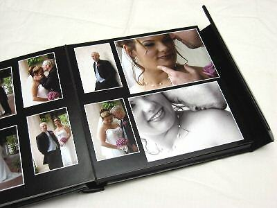 Personalized Photo Albums (10x10 black Self Mount Wedding Photo Album-30 photos (Personalization)