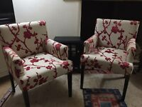 Pair Next Fireside Armchairs. Excellent cond. Chairs. Contemporary.