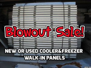 "Cooler & Freezer Panels 3"" and 6"" New & Used, Blowout Prices!"