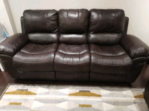 3 seat leather-air recliner sofa