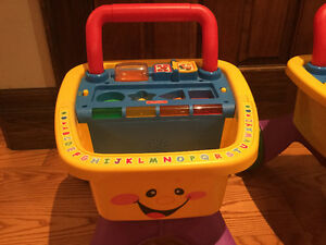 Rare Fisher Price Laugh and Learn Shopping Cart Walker