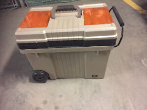 Large Tool Box on wheels with slide out Handle