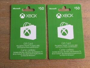 Cartes cadeaux X Box One de 50$