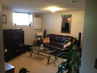1 bdrm basement apartment