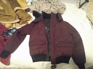 "Maroon with Black Fur MACKAGE Winter Jacket 42"" with original ca Kitchener / Waterloo Kitchener Area image 1"