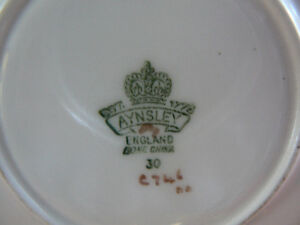 Aynsley Teacup and Saucer  Gold Orchard Fruit West Island Greater Montréal image 2