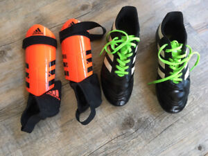 Soccer Cleats and Shin Pads - excellent condition.