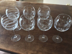 LARGE CRYSTAL WINE GLASSES - WILL ACCEPT REASONABLE OFFER