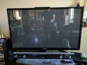 """50"""" TV and speaker system"""