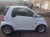 White Smart Fortwo Passion Softtouch. Low mileage!