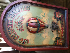 3 old painted wood signs - in great condition