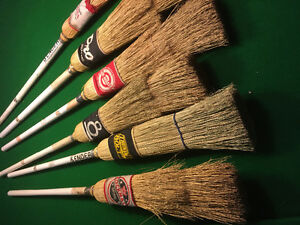straw curling brooms $20 each.  in river heights