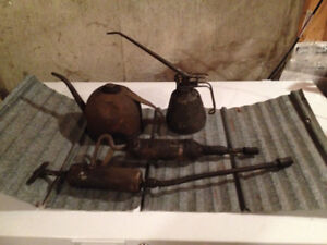 Antique Oil Cans and Grease guns $35 OBO