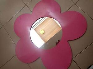 Pink Flower Mirror Perfect for Girls Room! NORTH RYDE PICKUP! North Ryde Ryde Area Preview