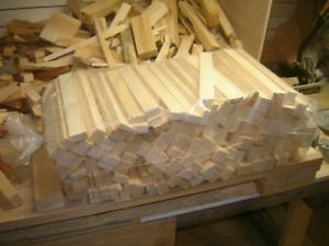 Sac de bois d'allumage en pin sec séché au four
